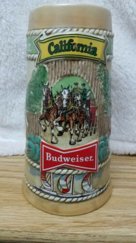 Vintage 1981 California Budweiser Beer Stein Limited Edition Mug