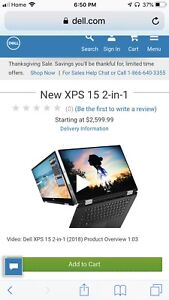 Brand New XPS 15 2-in-1  (2018)