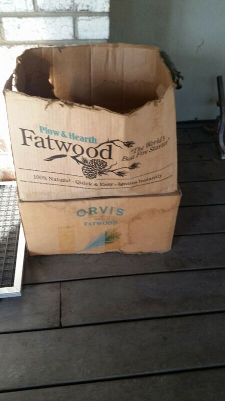 Orvis Plow & Hearth Fatwood 1.5 boxes (40-45 lb.)