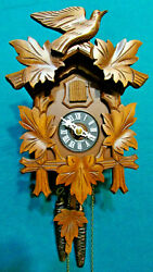 Cuckoo clock black forest  one day original german wood carving mechanical new