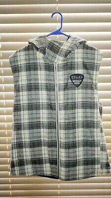 FINAL SALE Dolce and Gabbana D&G Vintage Plaid Hooded Vest - Made in (D And G Sale)