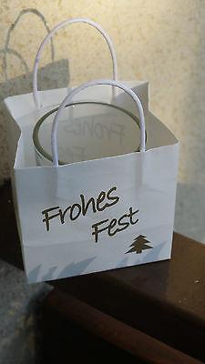 NEU Süßes Teelicht Windlicht Teelichthalter Weihnachten Aufschrift Frohes Fest