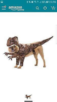 New - Animal Planet PET20109 Raptor Dinosaur Dog - Pet Raptor Kostüme