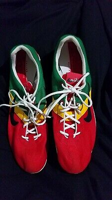 e5e2cd134baa Nike Zoom Miler TRACK Spike Shoes Size 12 Red Green Yellow. FREE SHIPPING!