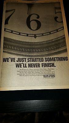 Wtop Radio Station Rare Original 1969 Promo Poster Ad Framed