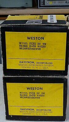 Very Nice Weston Model 2531 0-20 Vdc Panel Meter-new In Box