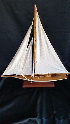 Large Wood Sailboat Model