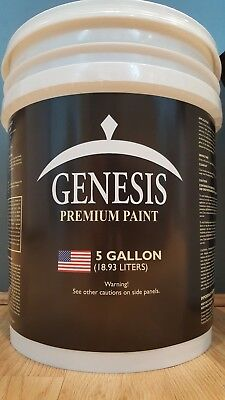 Genesis Scanty Paint  White Flat Latex Interior 5 Gallon FREE DELIVERY!