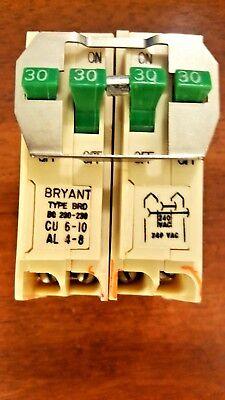 Bryant Bq230-230 Quadplex Two 2 Pole 30 Amp 120240 V Ac Circuit Breaker New