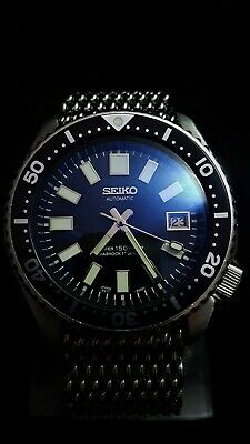 Vintage SEIKO 7002 Scuba Divers WATCH 62Mas 6217 Dial mod + Double Dome Blue Hue