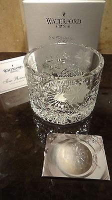 *NEW* House of Waterford Crystal SNOWFLAKE WISHES Champagne Coaster Tom Brennan