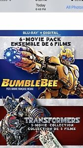 Bumble Bee/Transformers 6-Movie Pack Blu-Ray - NEW