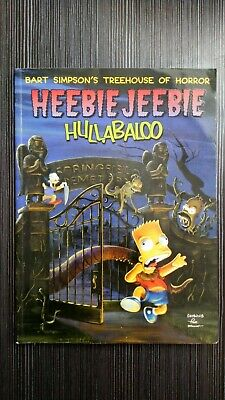 BART SIMPSON'S TREEHOUSE OF HORROR HEEBIE JEEBIE HULLABALOO BOOK 1999 HALLOWEEN