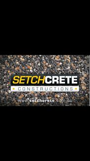 Wanted: For all aspects of concreting call setchcrete