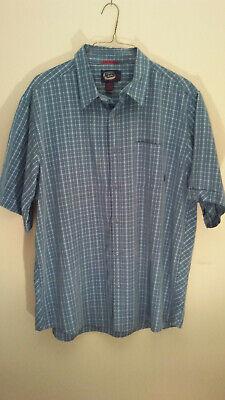 Billabong Never Established Mens 2XL Plaid Button Front Short Sleeve Shirt