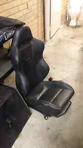 Evo 9 Recaros black leather SSL edition Vermont Whitehorse Area Preview