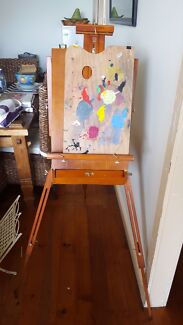 Artists Easel with paints and brushes Teralba Lake Macquarie Area Preview