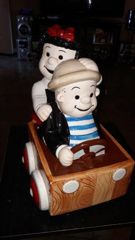 Limited Edition Nancy & Sluggo Treasure Craft Cookie Jar