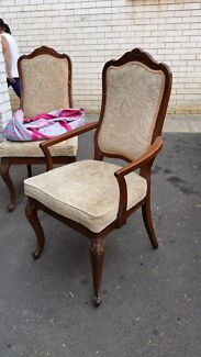 6 antique carved wood style dining chairs North St Marys Penrith Area Preview