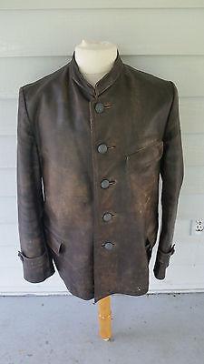 WW2 WWII German Navy Uboat Leather Coat,Panzer,Elite,Kreigsmarine,Original,Rare
