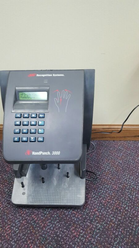 IR Recognition Systems HandPunch 3000 Biometric Time Clock