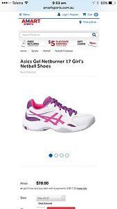 Asics Gel Netburner 17 Netball Shoes Size 4 Mount Gravatt East Brisbane South East Preview
