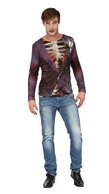 Zombie Bräutigam 3D-Druck-Hemd, Herren-Kostüm (Zombie Bräutigam Kostüme)
