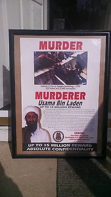 Osama Bin Laden Wanted Poster- Issued By the US State Dept 1999. Rare!