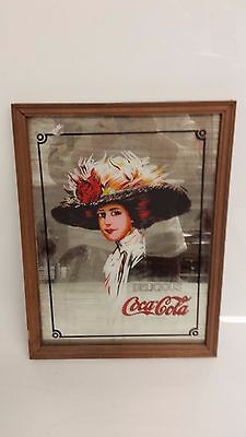 Vintage Coca Cola Advertising Mirror Hamilton King 1960's?