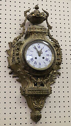 Best Quality French Bronze Cartel Wall Mounted Clock Beautiful!