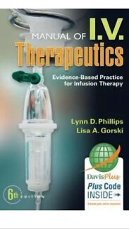 Wanted: MANUAL OF I.V. Therapeutics