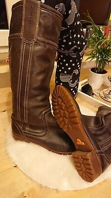 Timberland Damen Leder Stiefel Gr. 39 / Uk 6 in Cognac Braun
