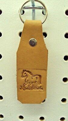 Leather Key Fob, Handmade, Running Horse