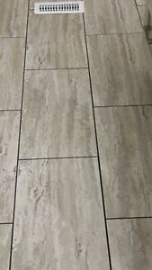 Armstrong vinyl flooring - 1' x 2' tile pieces