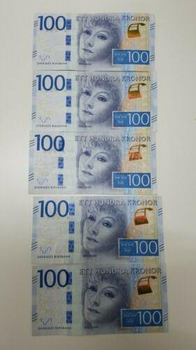 5 SWEDEN BANKNOTE 100 KRONER GRETA GARBO Circulated Ett Hundra Kronor Riksbank