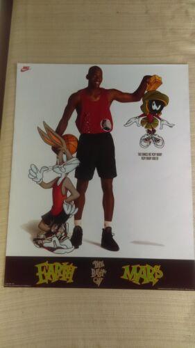 1993 OSP NIKE Michael Jordan Looney Tunes SPACE JAM New Old Stock Poster 20x16