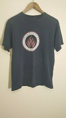 Vintage Black Label Skateboard Co Fire Logo T Shirt Size Medium