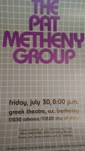 Pat Metheny Group July 30 1982 Greek Theatre Berkeley CA Concert Poster