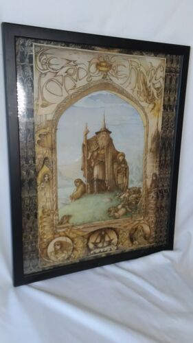 """Vintage Lord of the Rings Poster 1997 J Cauty JRR Tolkein 20"""" x 16"""" Wizard"""