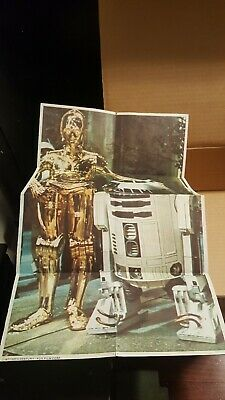 1977 Star Wars Promotional Cereal Poster R2D2 & C3P0 ! Rare !!