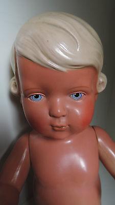 Schildkröt Puppe Inge, 42 cm,Zelluloid-Puppe,30er-50er Jahre
