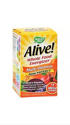 Alive Vitamin (Alive Multi Vitamin Max Potency (3 Daily) With Iron 90 Tabs FAST SHIPPING)