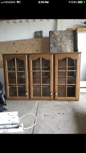 Solid Wood Display Cabinet / Case