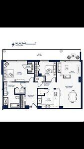 Magnifique condo 4 1/2 de 1 310 p.c. au 9e étage