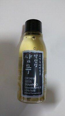 Whamisa Organic Seeds Hair Shampoo for Oily Scalp (pH 4.5) 60ml EWG Verified
