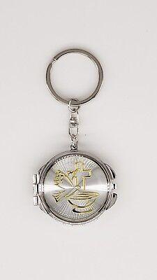 12X Holy Spirit Gold Baptism Compact Mirror Keychain Recuerdos de First Communio