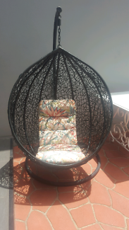 wicker hanging egg chair rrp$999