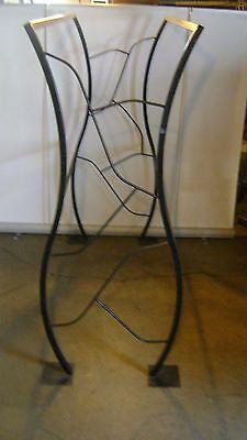 Custom Designed Industrial Welded Black Steel Tall Garment Re Bar Clothing Rack