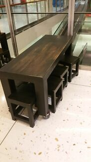 Wooden Dining table x4 and stools x24. Shop fitout cafe Killarney Heights Warringah Area Preview