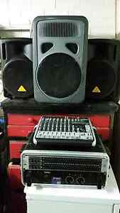 Pa System speakers and  mixer and stands Armadale Armadale Area Preview